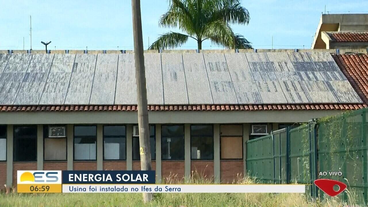 Usina de energia solar é instalada no Ifes da Serra