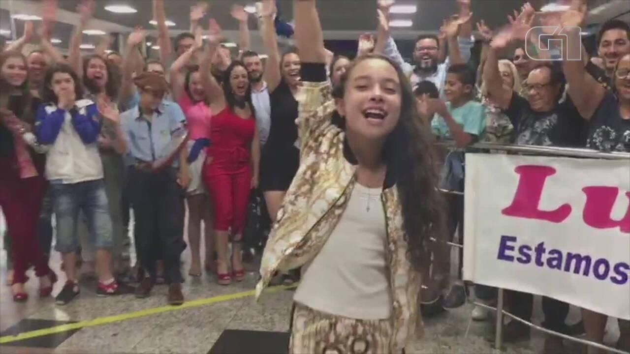 Confira o recado da gaucha Luiza Barbosa, classificada para a próxima fase do The Voice Kids
