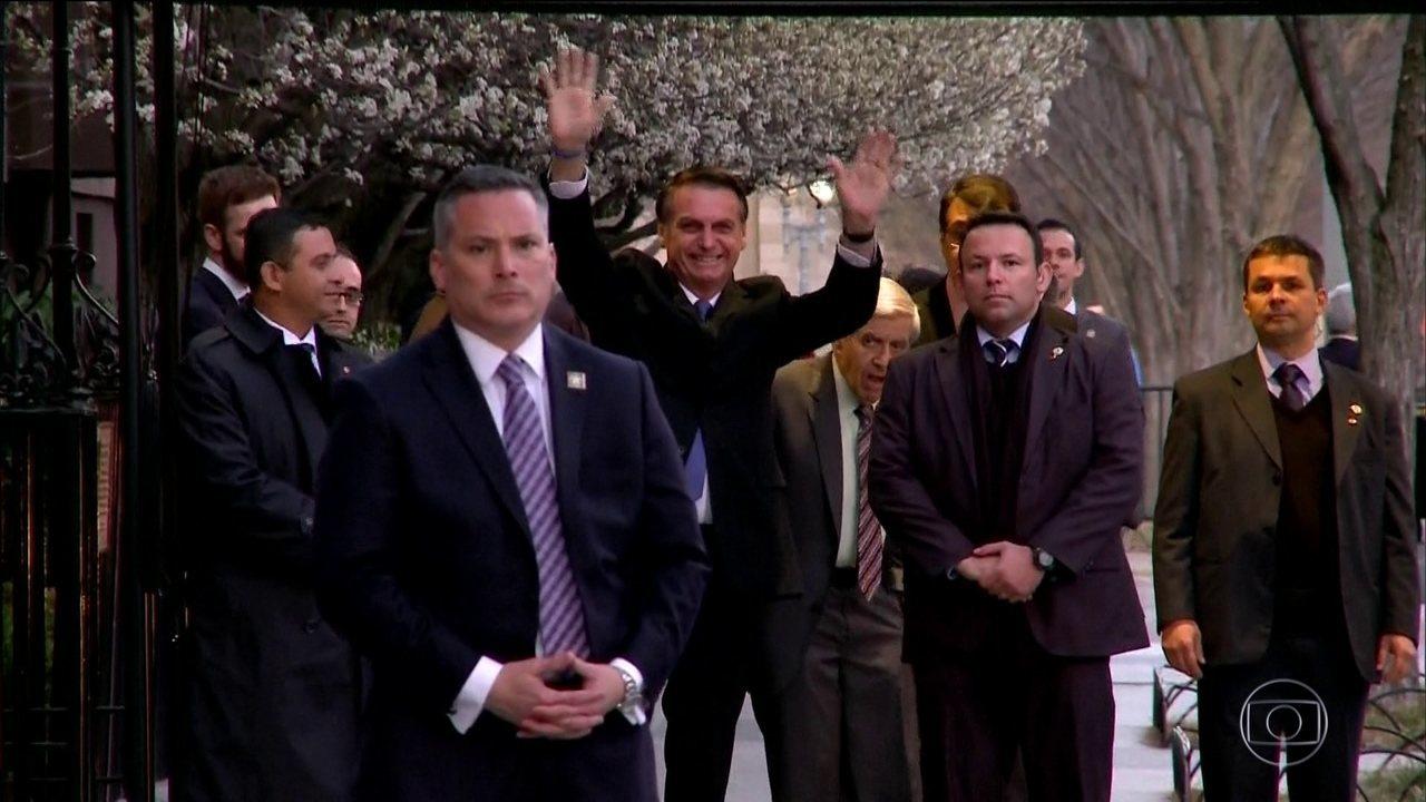 Bolsonaro faz primeira visita oficial aos EUA
