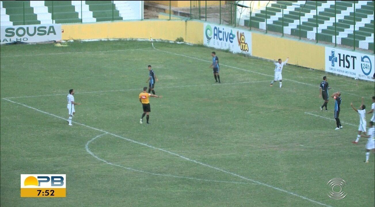 Veja os gols do empate entre Sousa e CSP, pela 9ª rodada do Paraibano