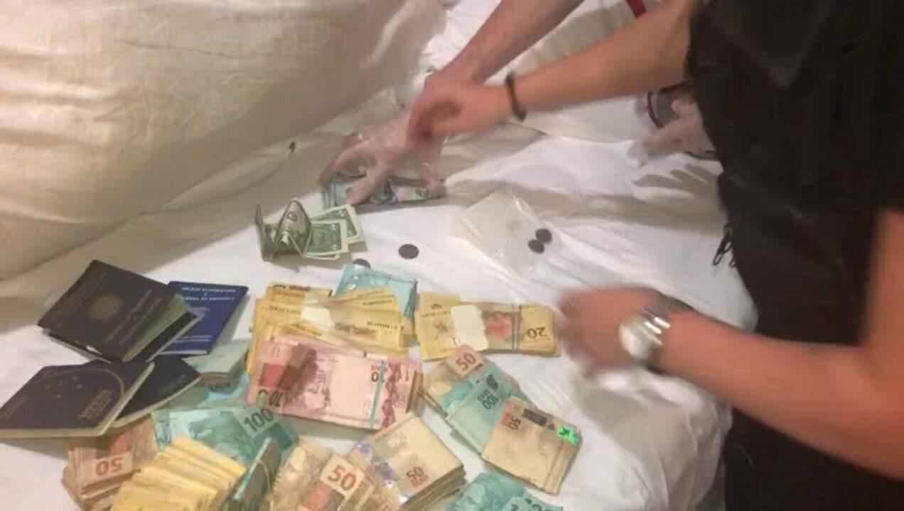 Dinheiro apreendido em operação contra golpes em site de compras virtuais