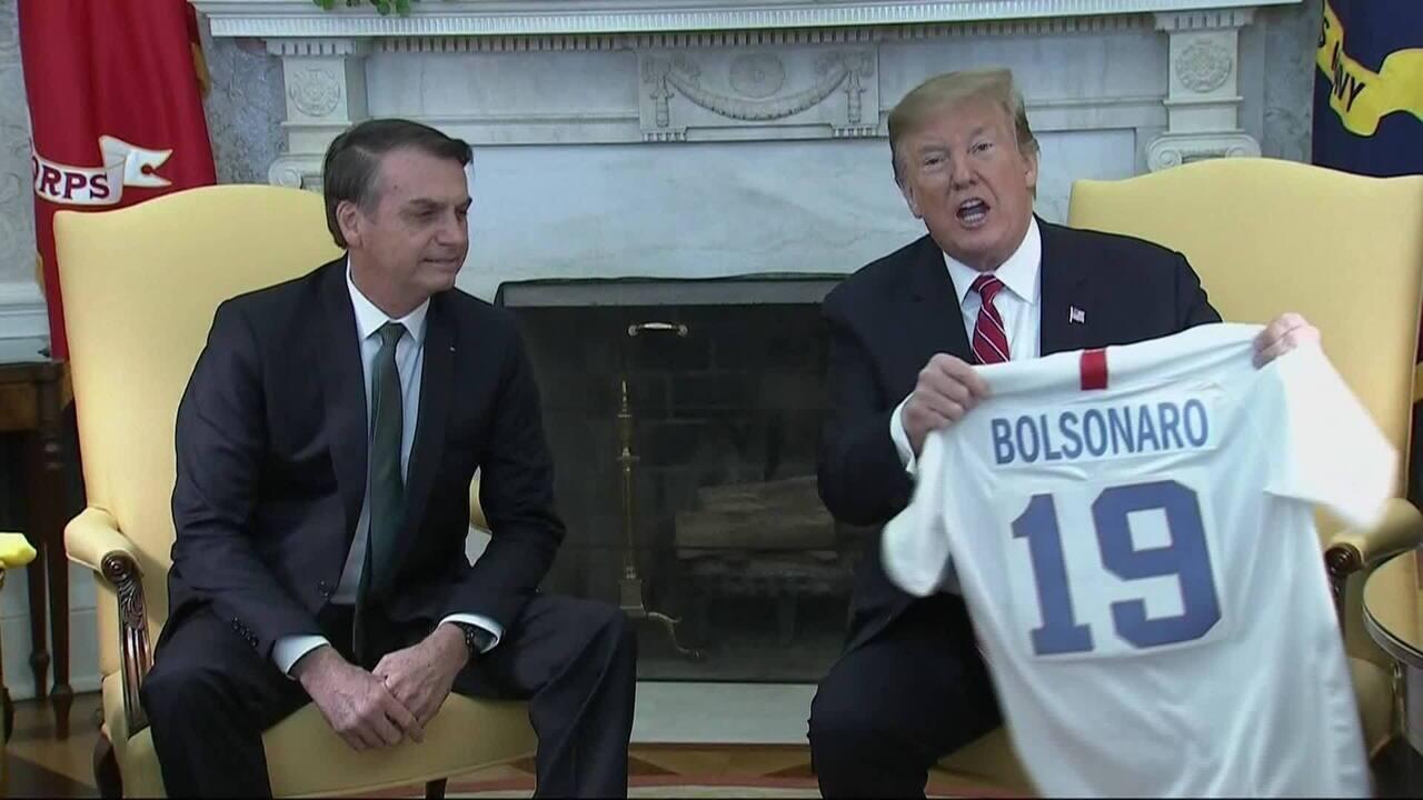 Trump recebe Bolsonaro na Casa Branca: 'Brasil e EUA nunca estiveram tão próximos'