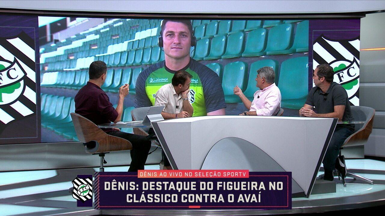 Destaque do Figueirense, goleiro Dênis participa ao vivo do Seleção SporTV