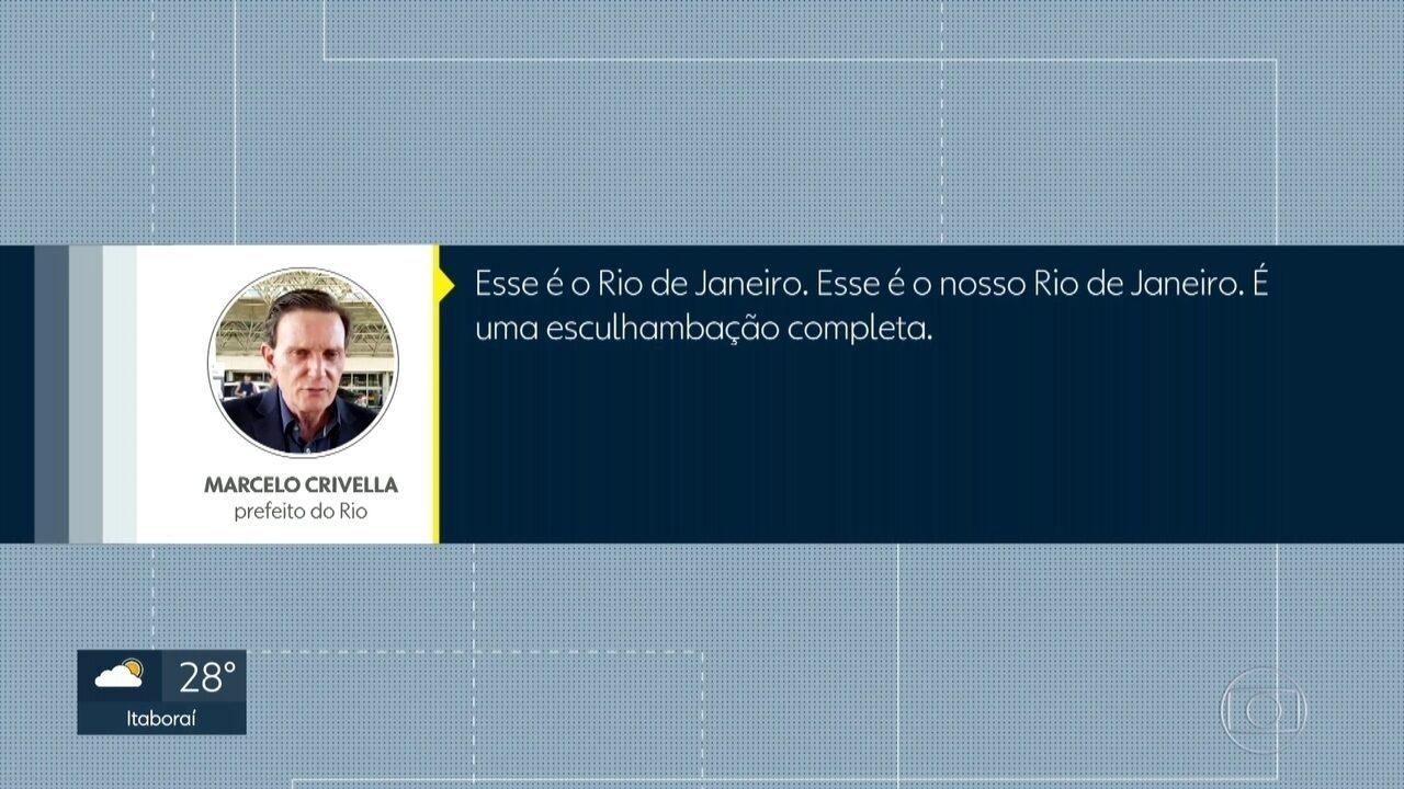 Marcelo Crivella faz críticas ao VLT, gastos com carnaval e à corrupção na PM