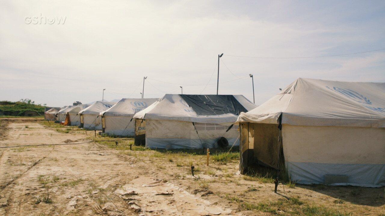 Confira detalhes da produção do campo de refugiados