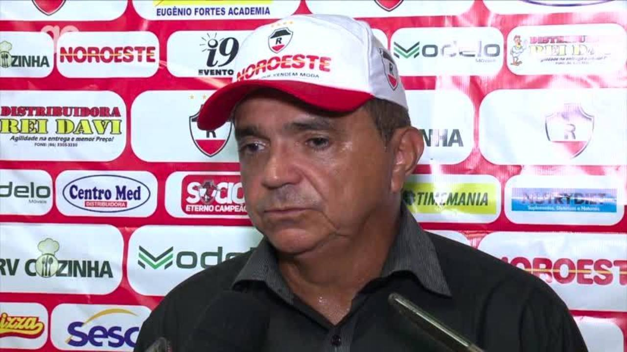 Flávio Araújo analisa empate do River-PI com o Altos: