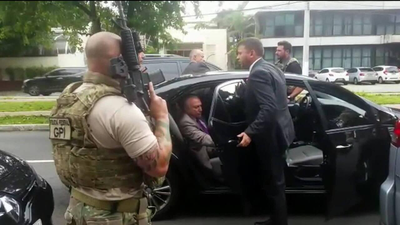 Veja o momento da prisão de Michel Temer em SP