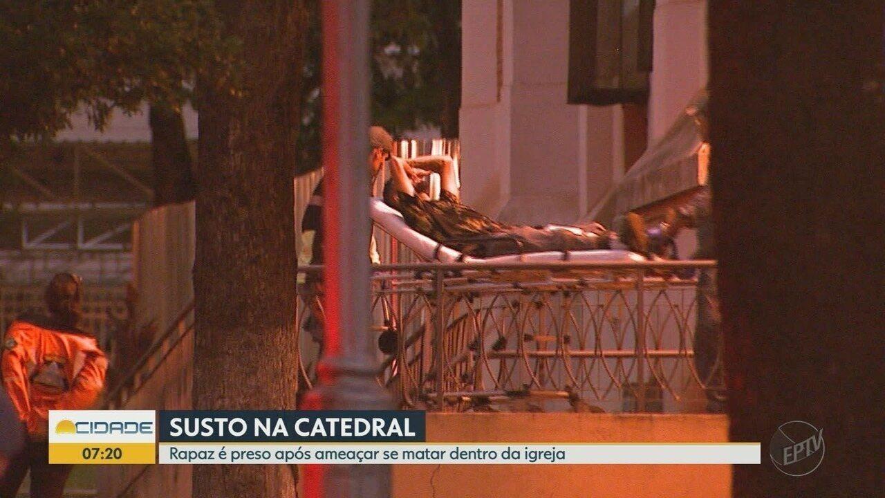 Homem armado é preso no interior da Catedral de Ribeirão Preto