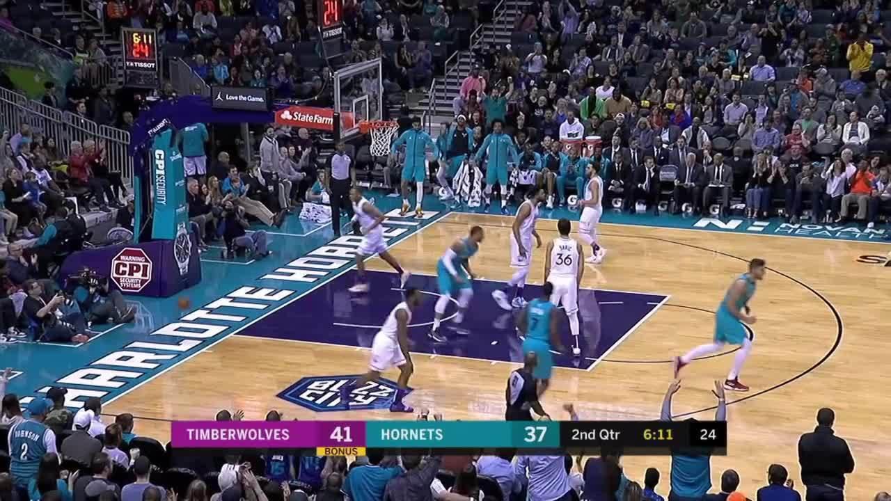 Melhores momentos: Charlotte Hornets 113 x 106 Minnesota Timberwolves pela NBA