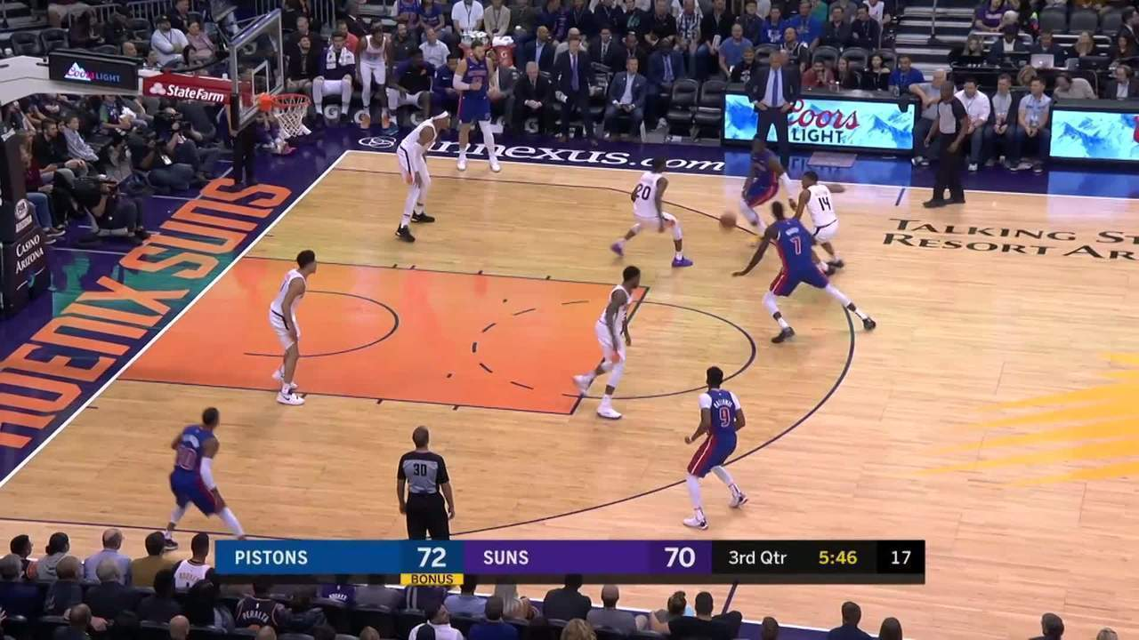 Melhores momentos: Detroit Pistons 118 x 98 Phoenix Suns pela NBA