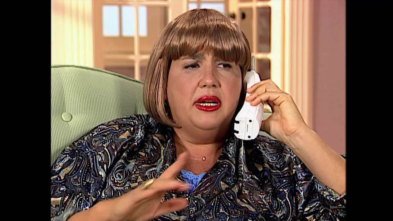 Claudia Jimenez na primeira temporada do 'Zorra Total'