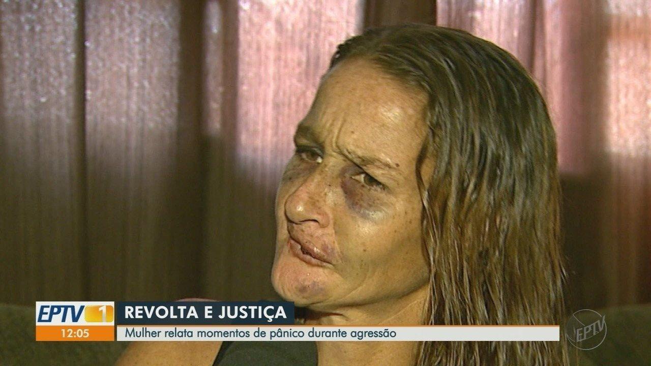 Mulher é agredida e arrastada no asfalto de rua de Serrana, SP