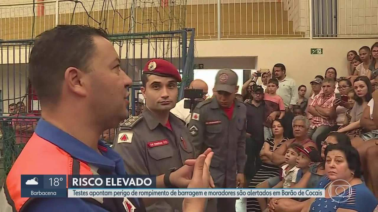 Barão de Cocais: em reunião, autoridades reforçam risco de rompimento de barragem