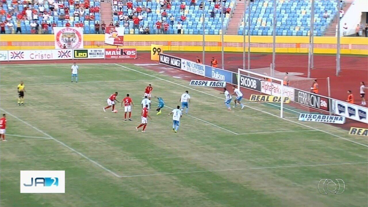 Os gols de Vila Nova 2x0 Crac pelo Goianão