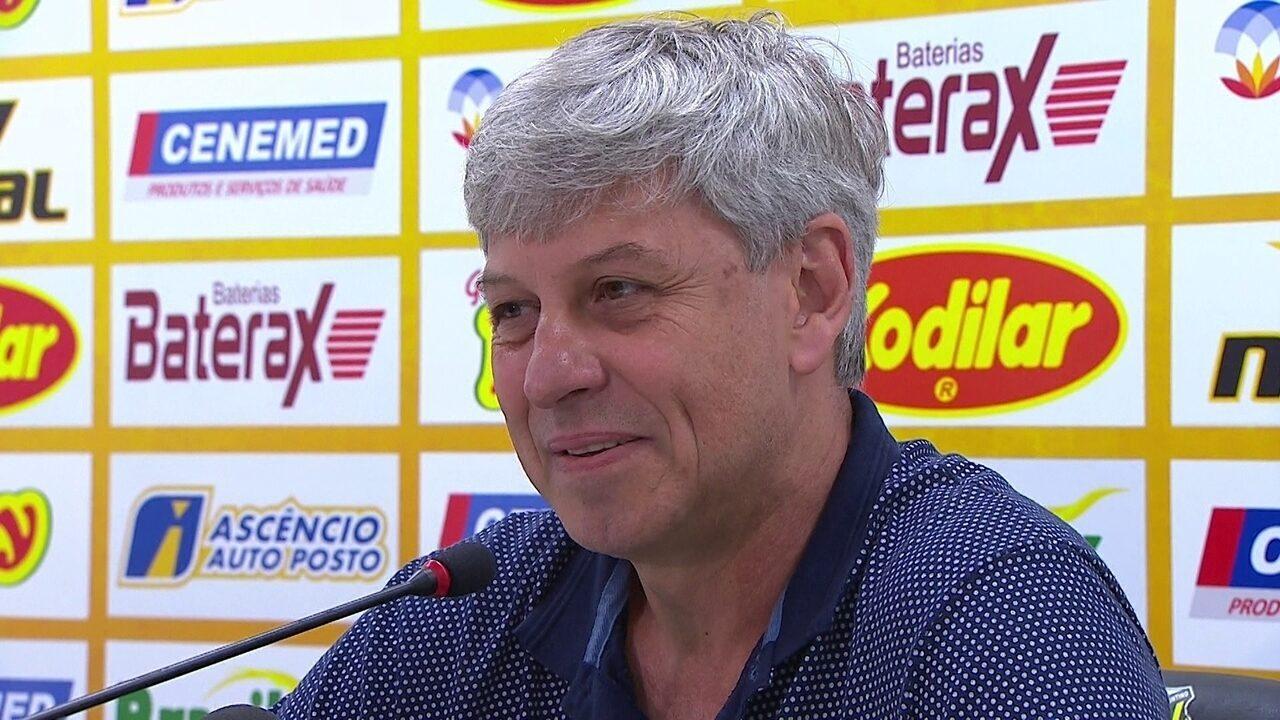 Ednilson Corona concede coletiva sobre atuação do VAR no Novorizontino x Palmeiras