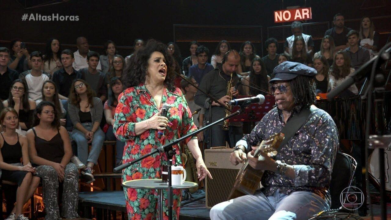Milton Nascimento e Gal Costa cantaram 'Paula e Bebeto'