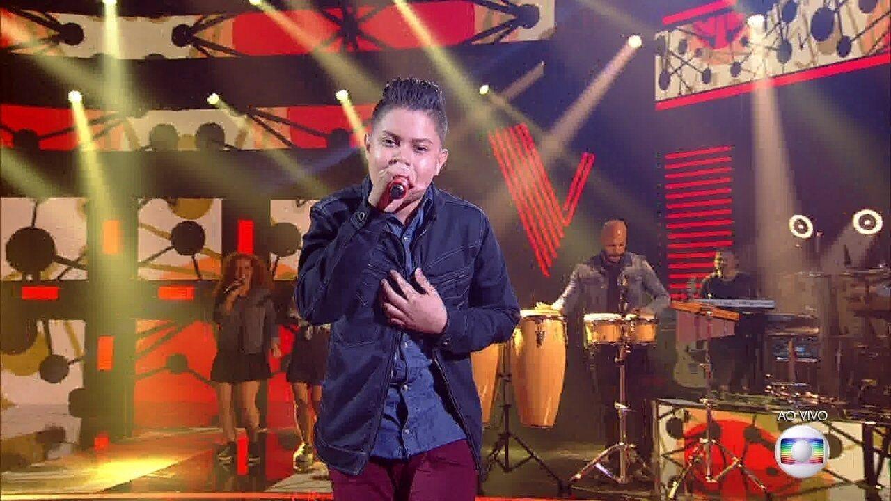 Nicolas Gabriel canta 'Cem Mil' e se classifica para a semifinal do 'The Voice Kids'