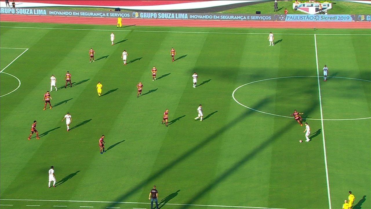 São Paulo toca a bola por quase 1 minuto e roda o jogo até conseguir o gol contra o Ituano