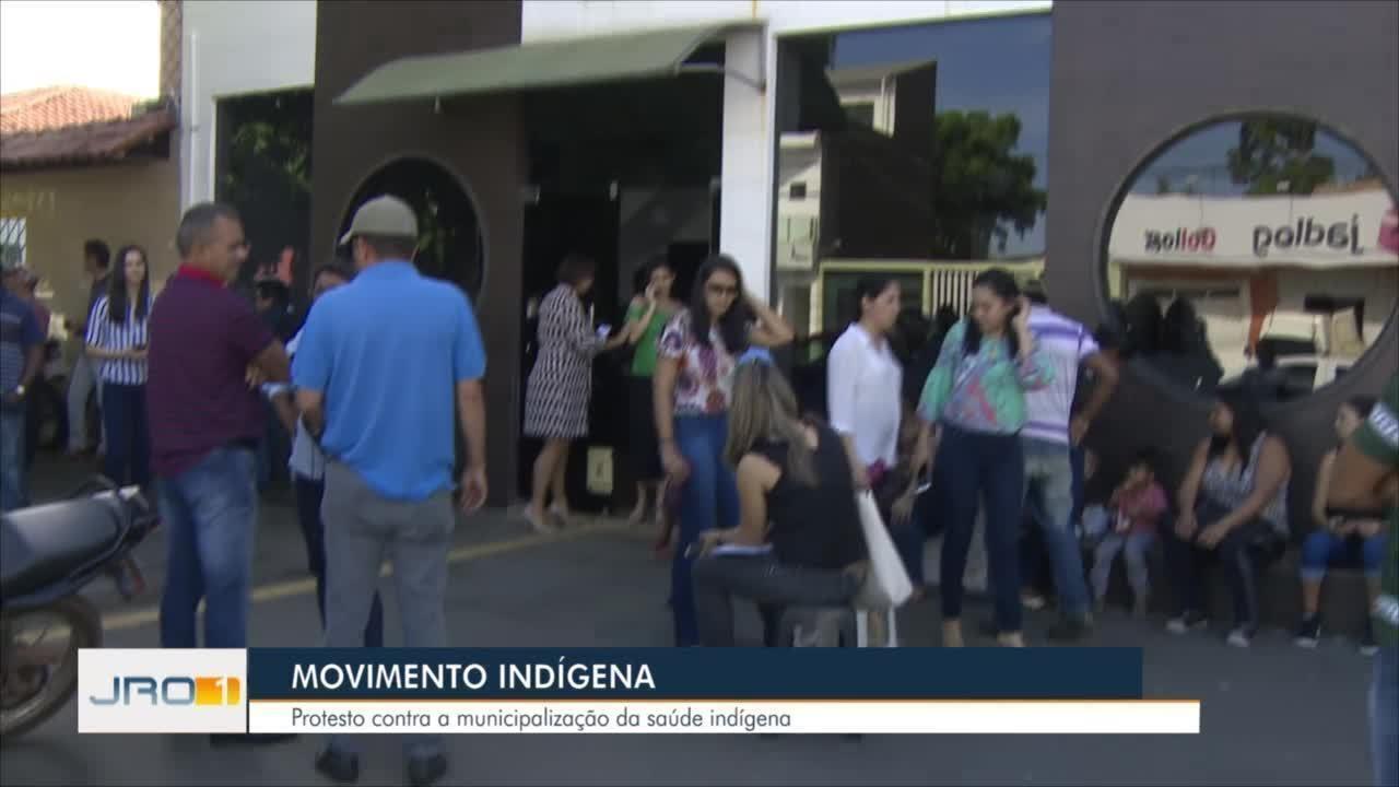 Protesto contra municipalização da saúde indígena é realizado em Porto Velho