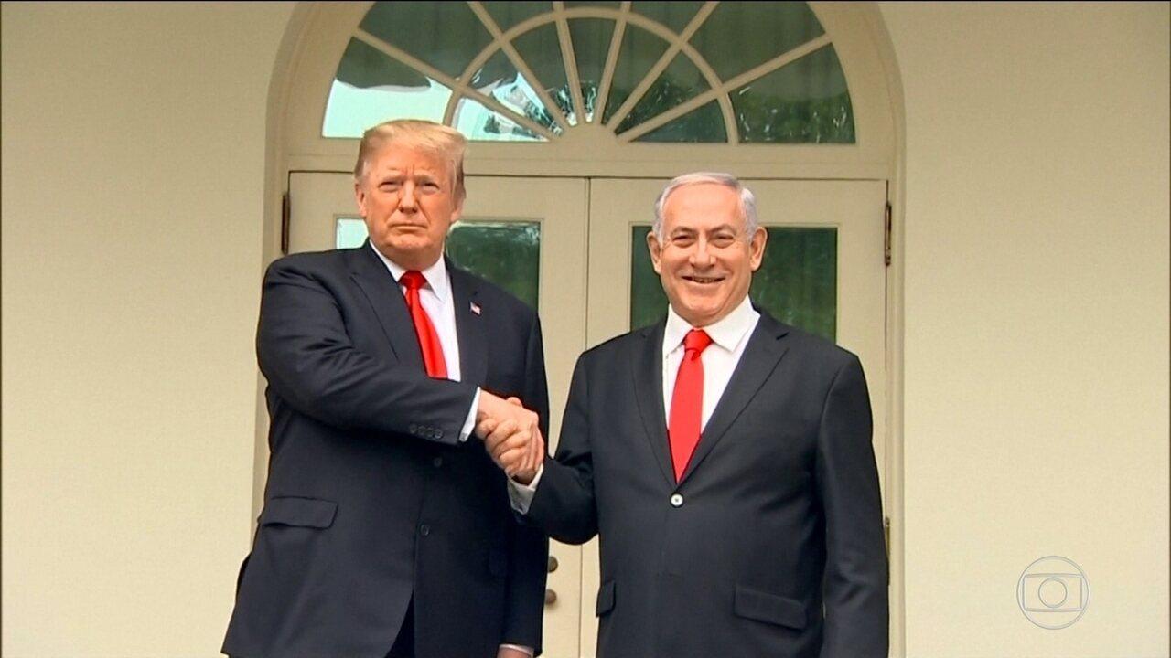 Trump reconhece formalmente Colinas de Golã como território de Israel