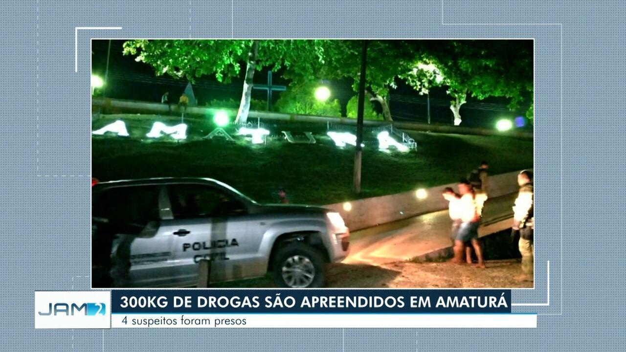 Grupo é preso com 300 kg de droga durante operação no interior do AM