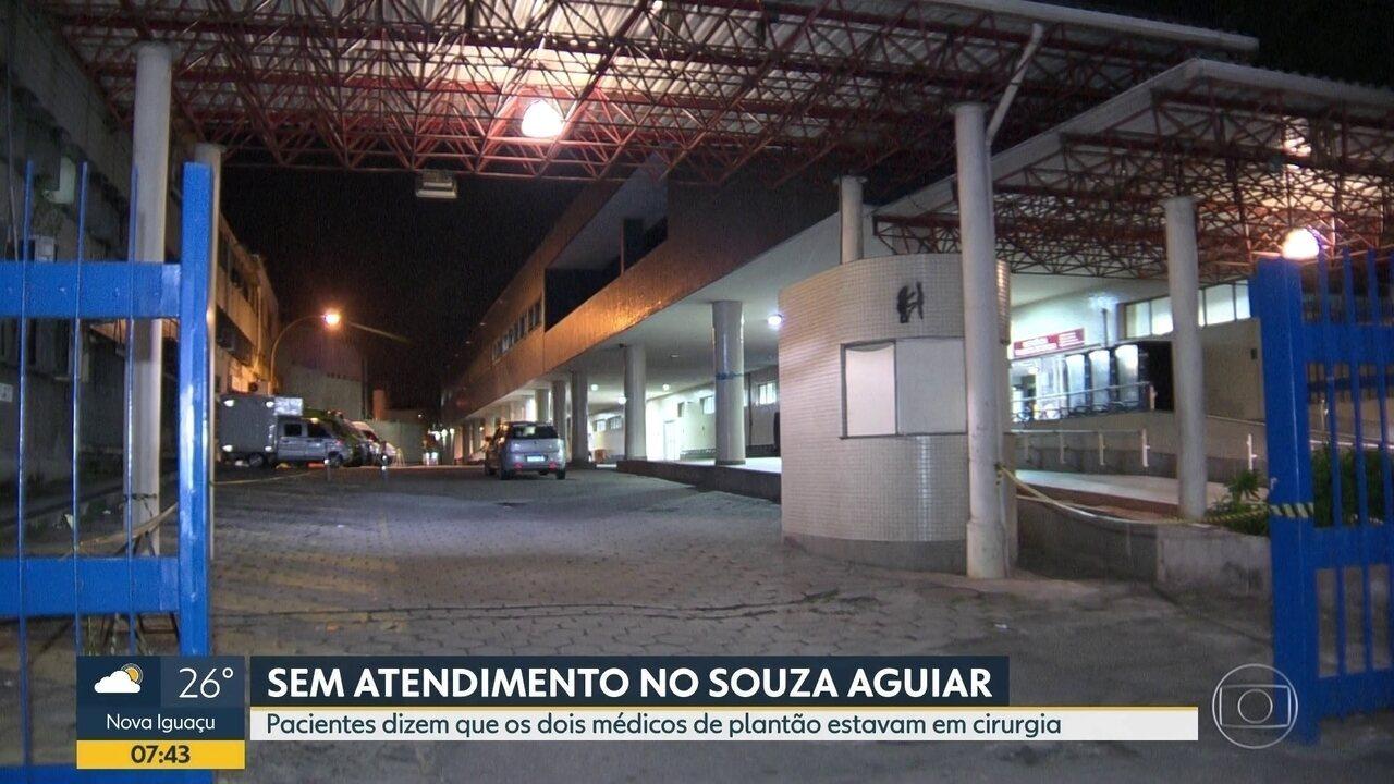 Faltam médicos no Hospital Souza Aguiar