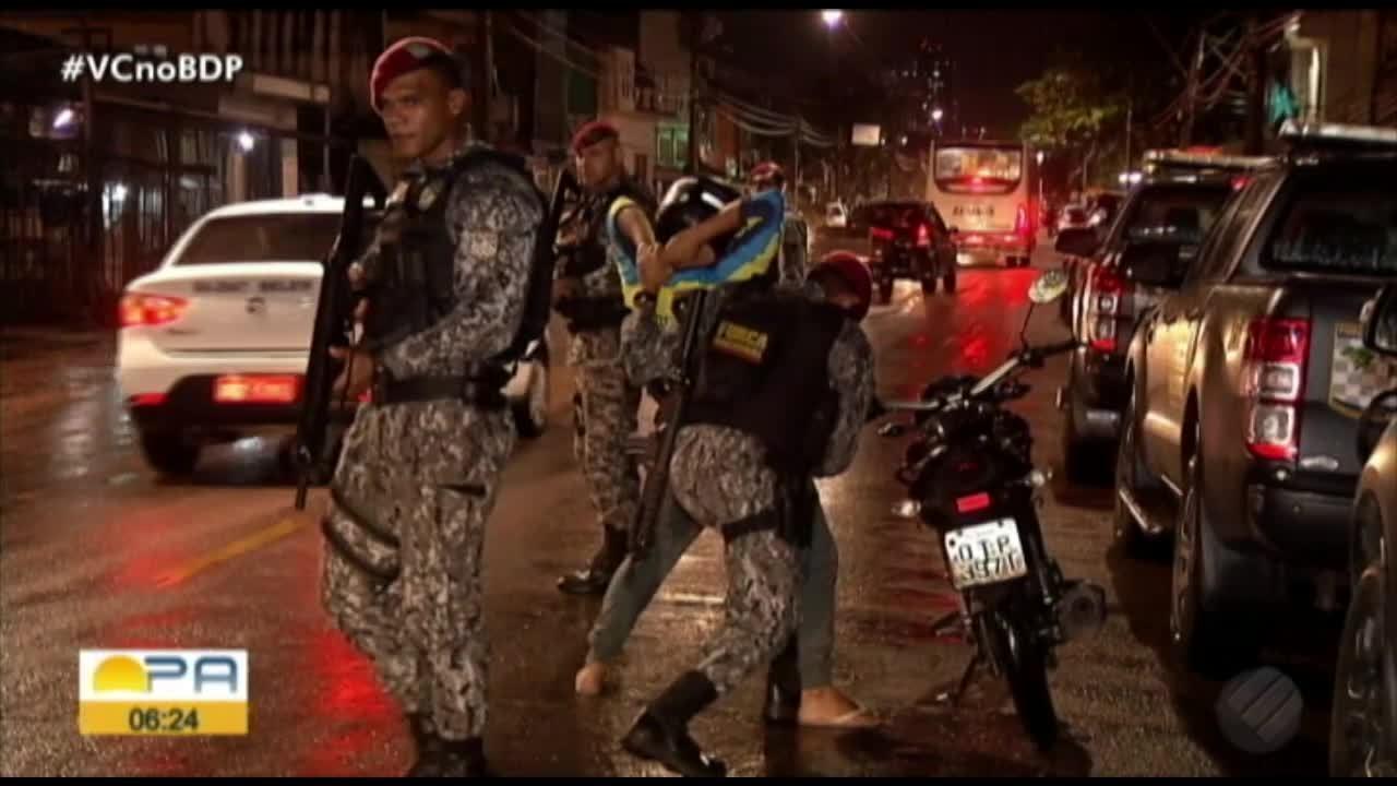 Já estão nas ruas de Belém os integrantes da Força Nacional