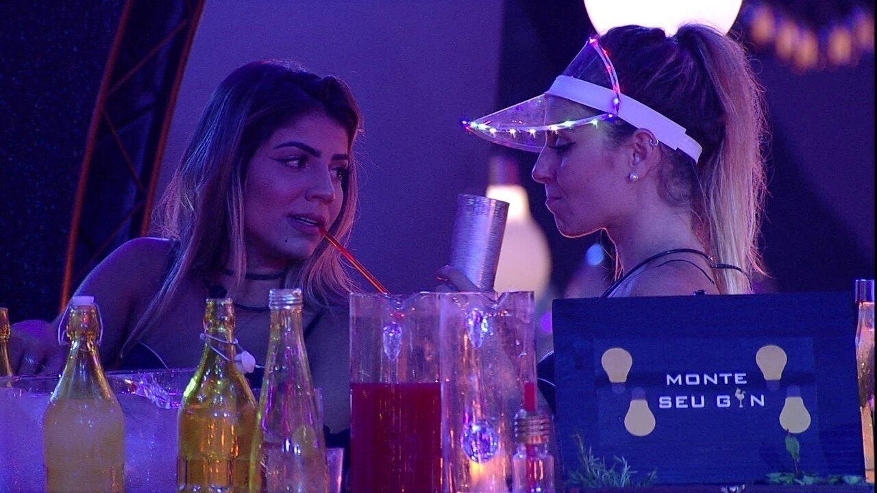 Paula confessa a Hariany: 'Não sei até onde Alan está com a gente'