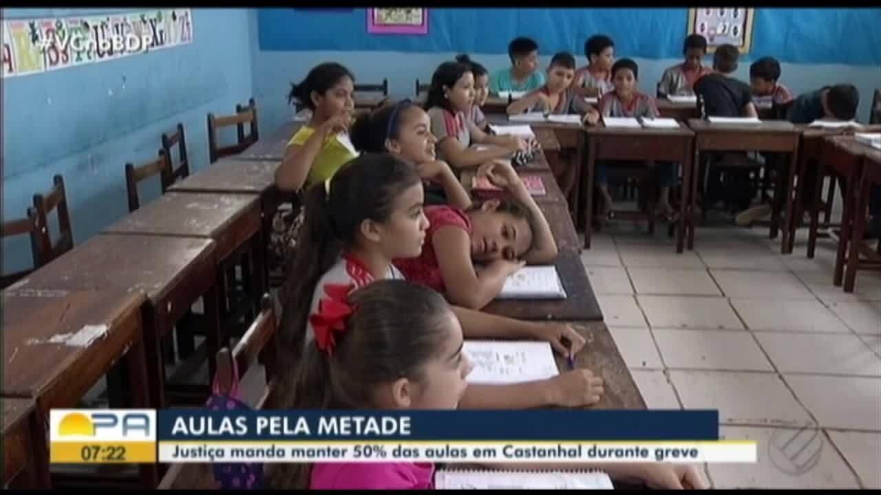 Cerca de 25 mil alunos estavam sem aulas e agora vão à escolas algumas vezes por semana.