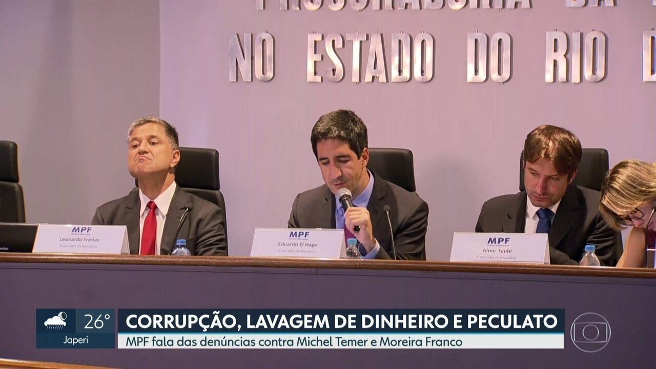 Ministério Público Federal denuncia Michel Temer e Moreira Franco por corrupção