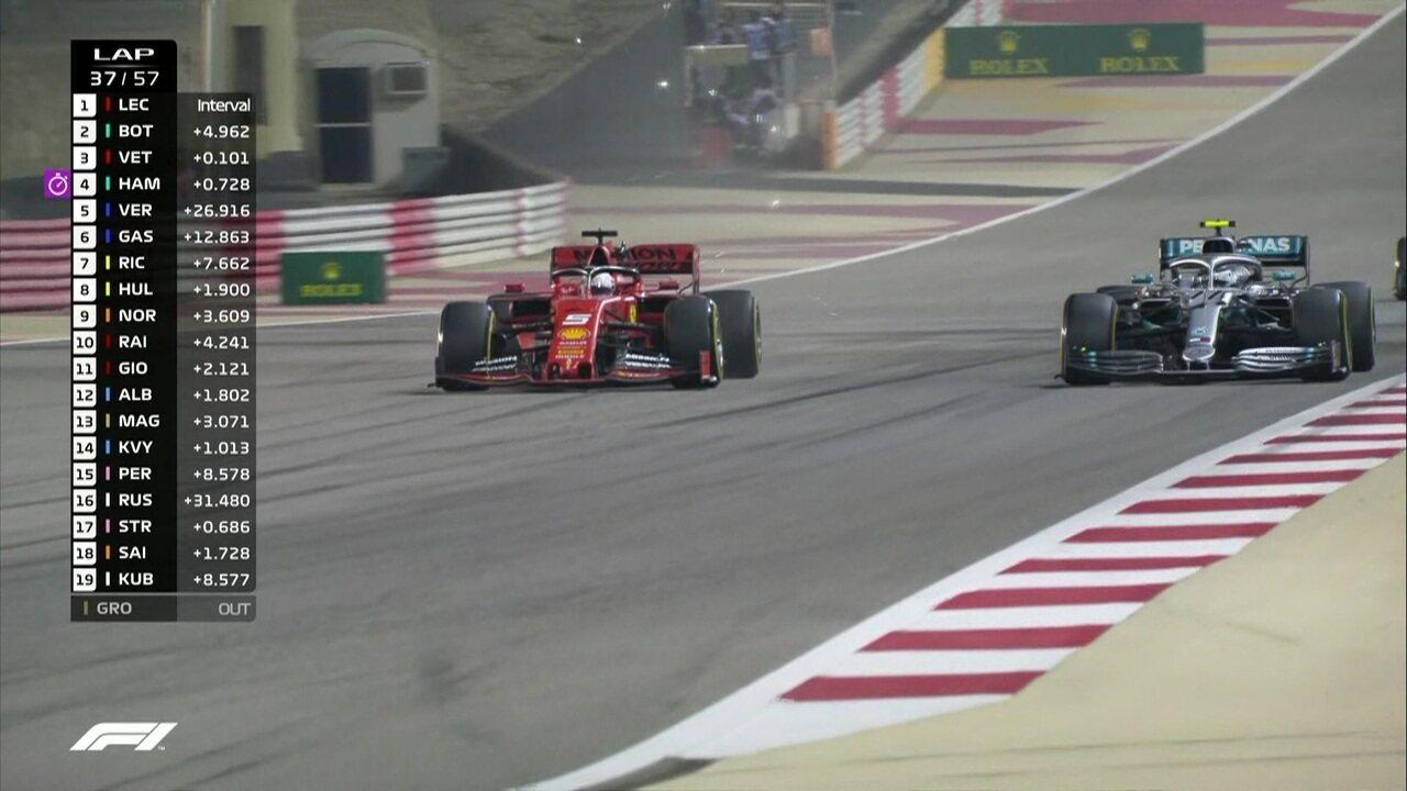 Vettel ultrapassa Bottas no GP do Barein