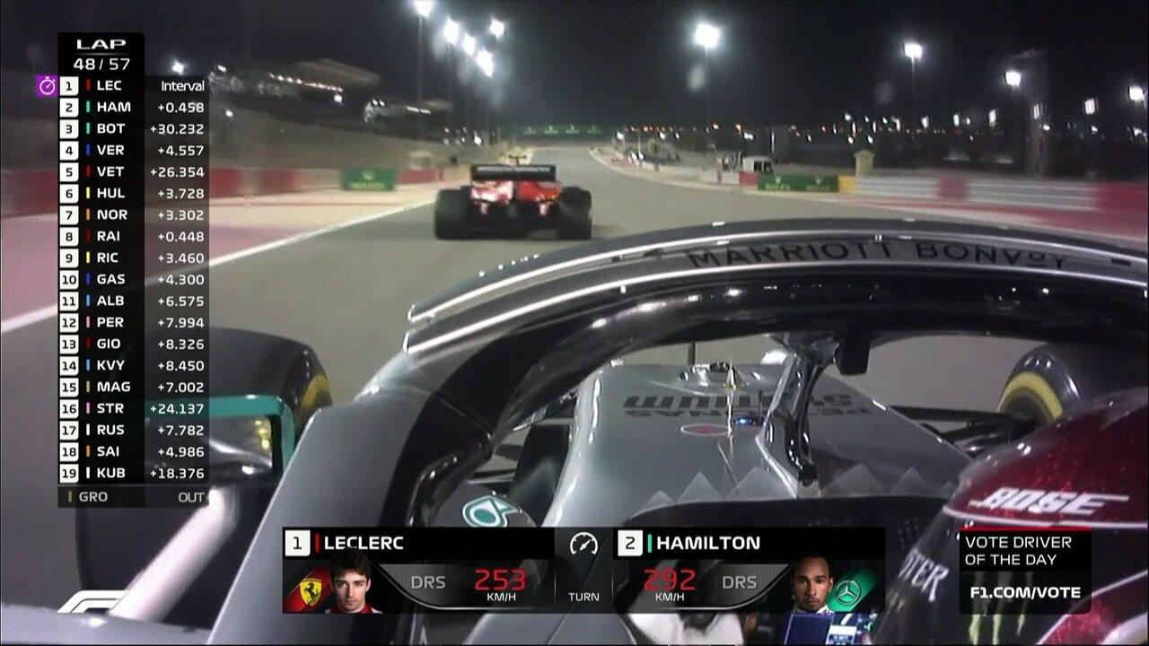 Hamilton ultrapassa Leclerc no GP do Barein
