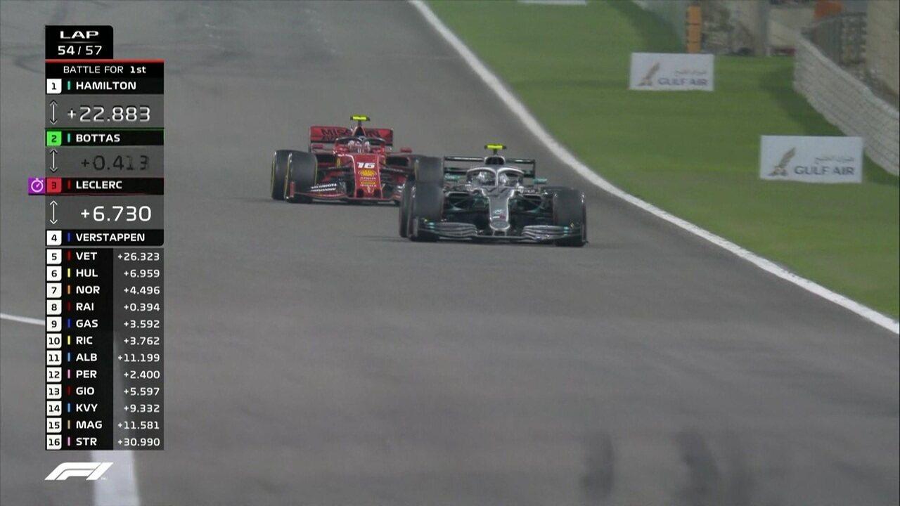 Bottas ultrapassa Leclerc no GP do Barein