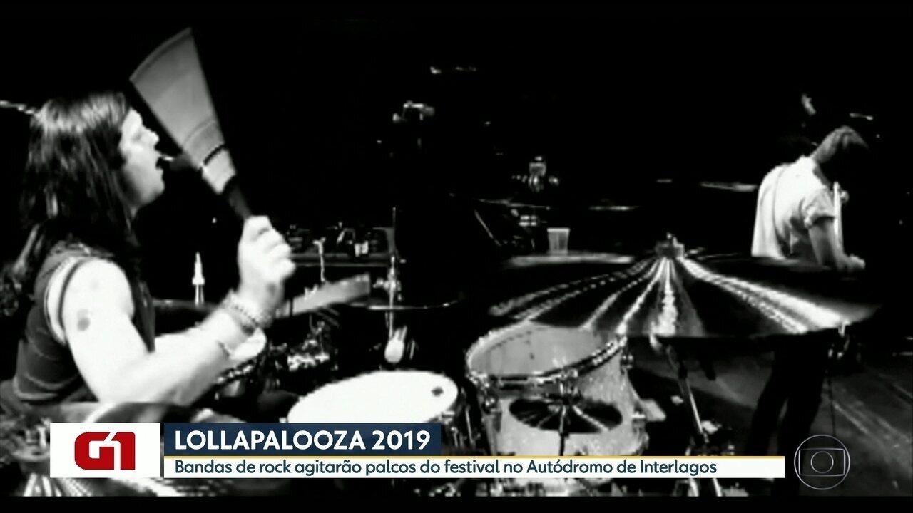 Bandas de rock agitam o Lollapalooza 2019