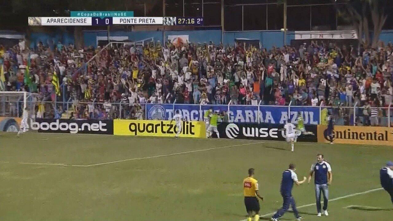 Os melhores momentos de Aparecidense 2x0 Ponte Preta pela primeira fase da Copa do Brasil