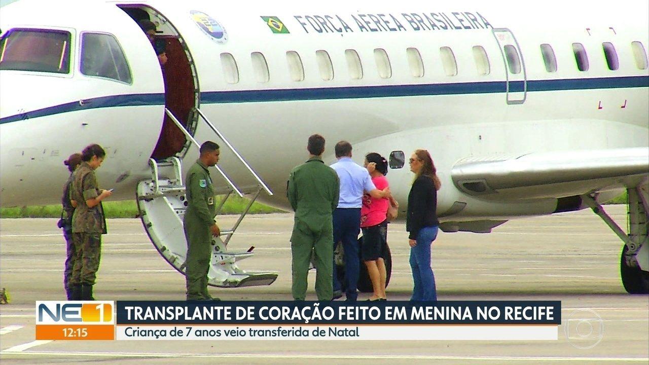 Criança de 7 anos faz transplante de coração no Recife