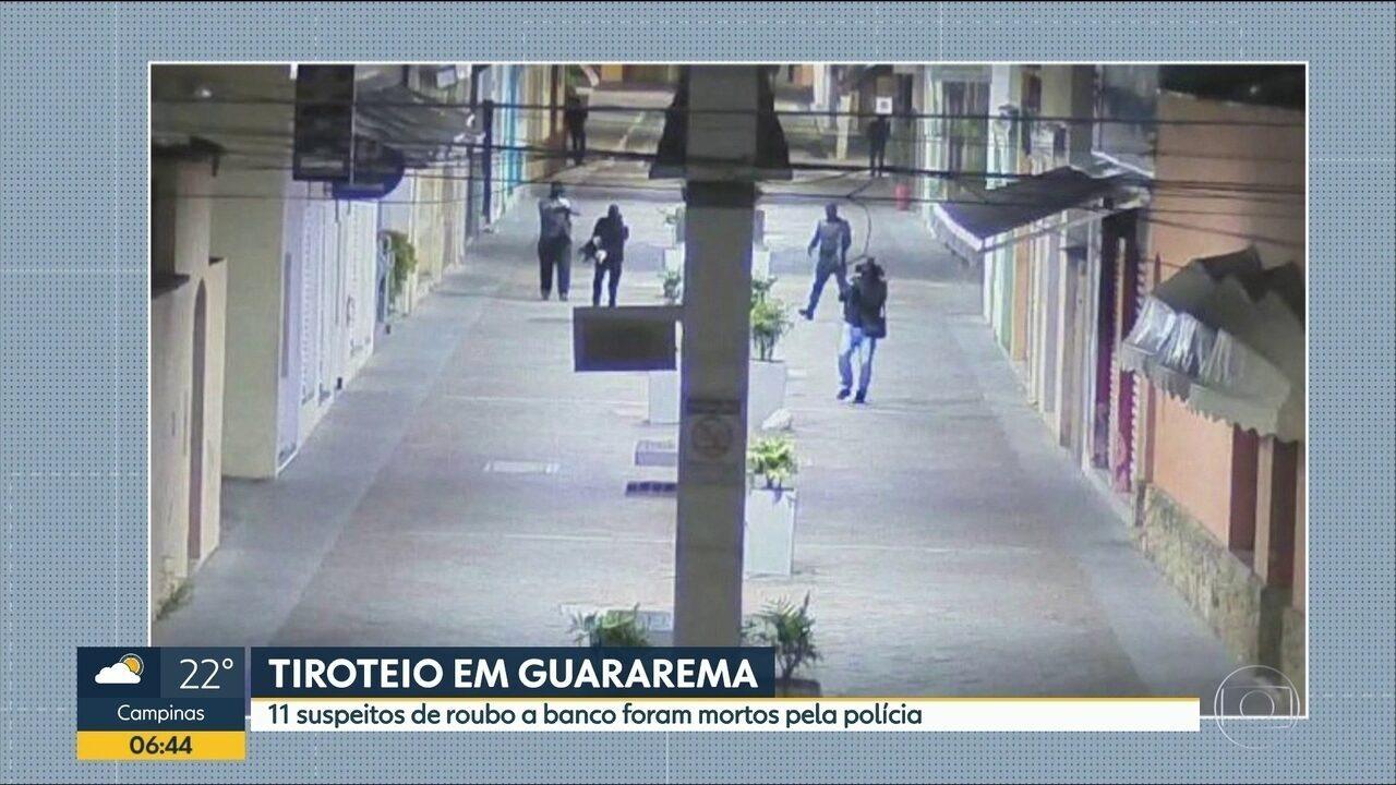 Moradores de Guararema relembram medo durante tentativa de assalto a bancos.