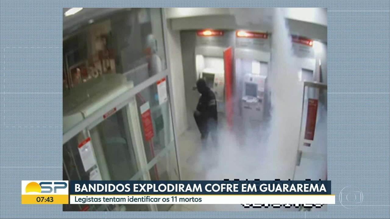 Vídeo mostra explosão em banco em Guararema