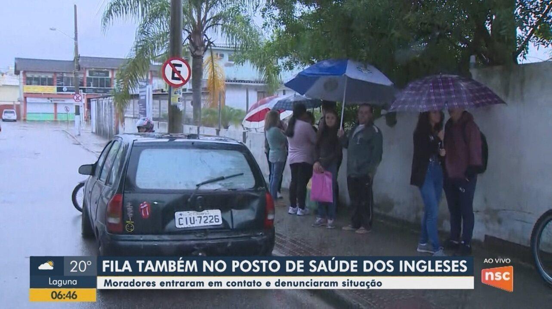 Moradores denunciam situação de espera em posto de saúde de Florianópolis