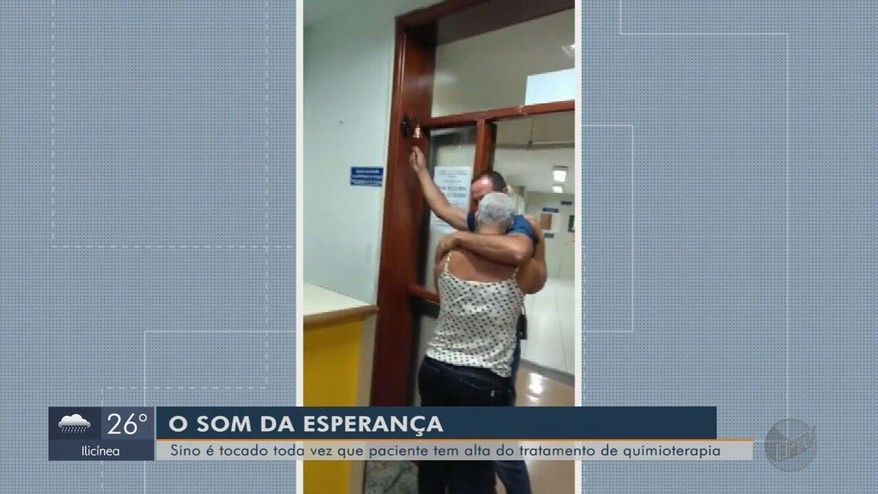 Sino em hospital de Varginha é símbolo do fim do tratamento contra o câncer