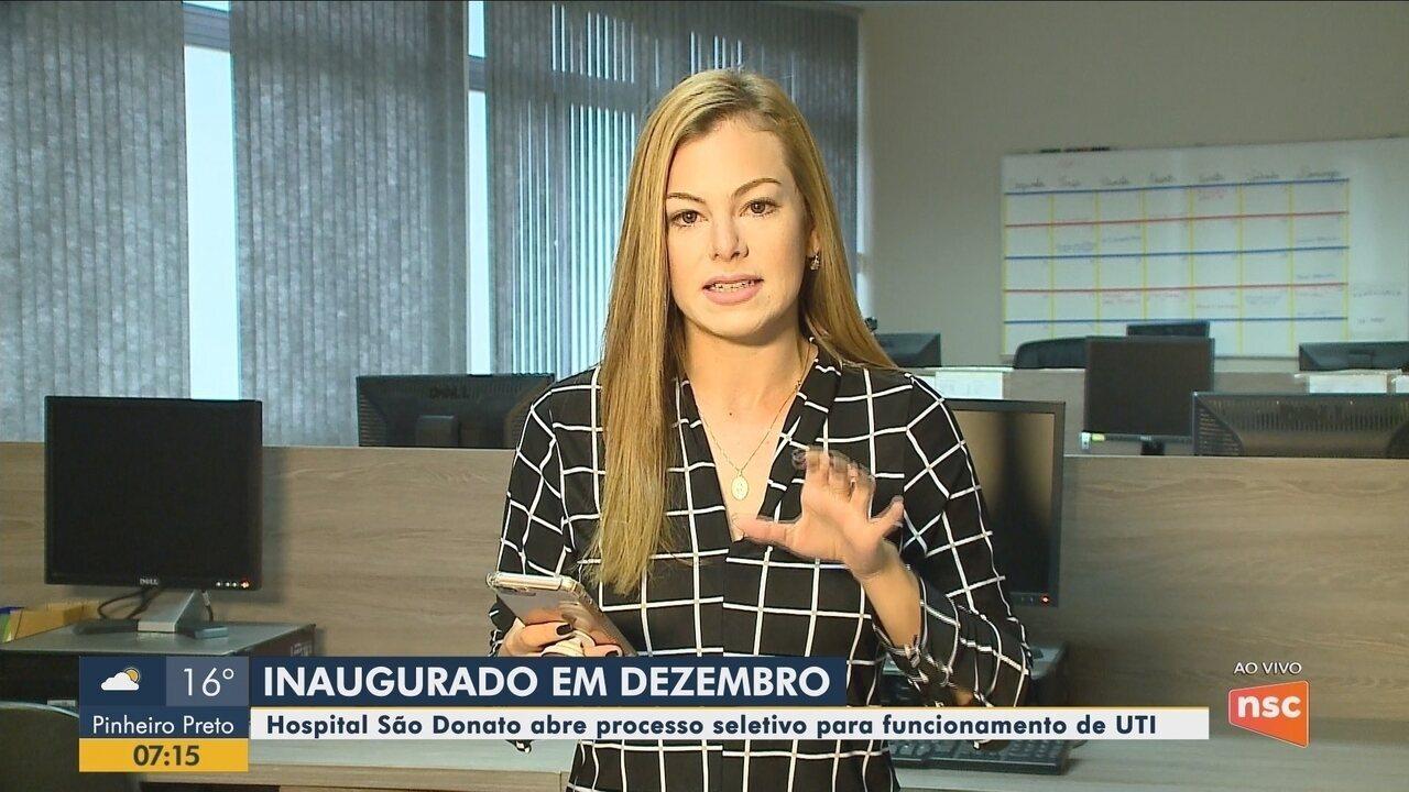 Hospital São Donato abre processo seletivo para funcionamento de UTI no Sul de SC