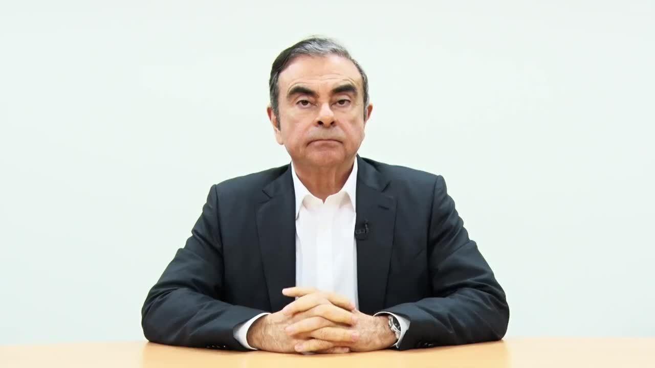 Carlos Ghosn divulga vídeo e afirma ser inocente