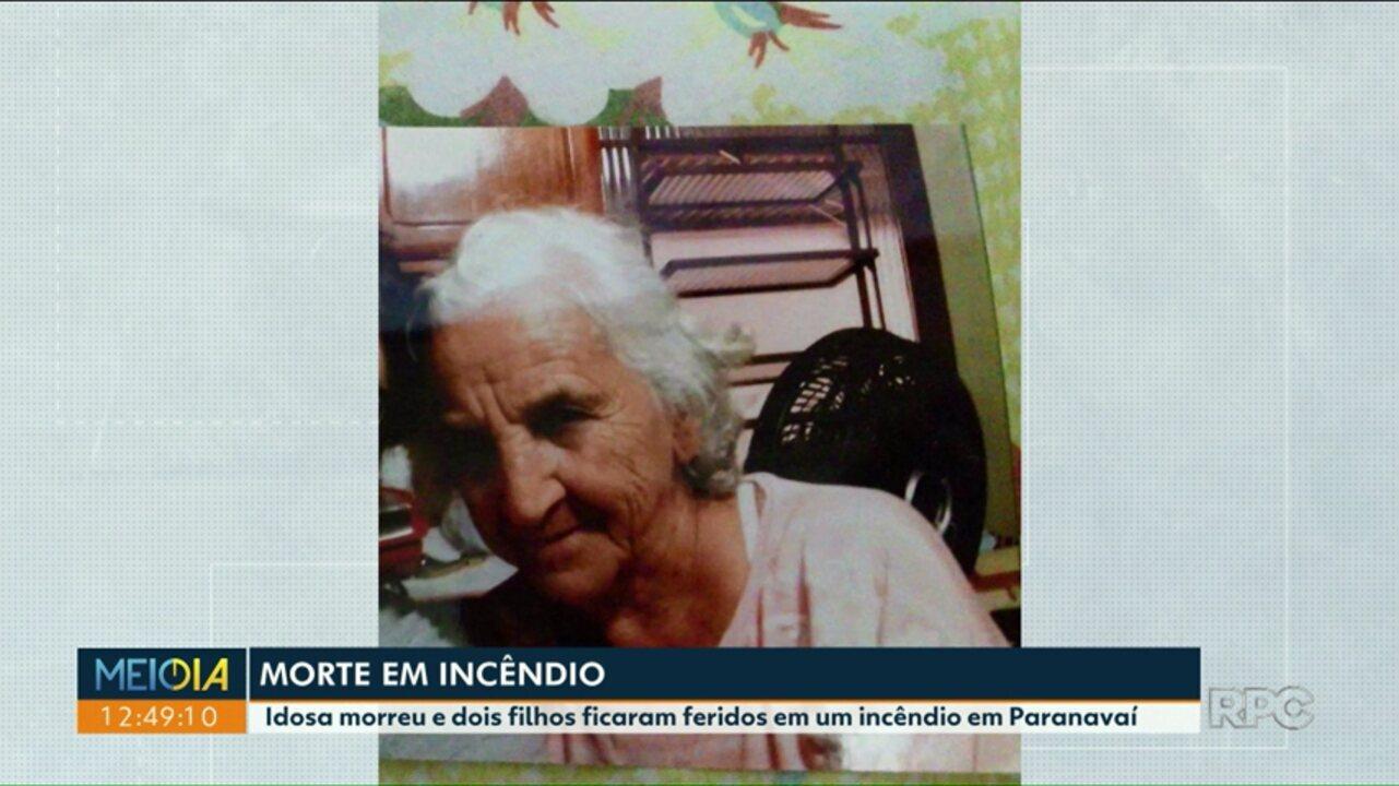 Idosa morre em incêndio em Paranavaí