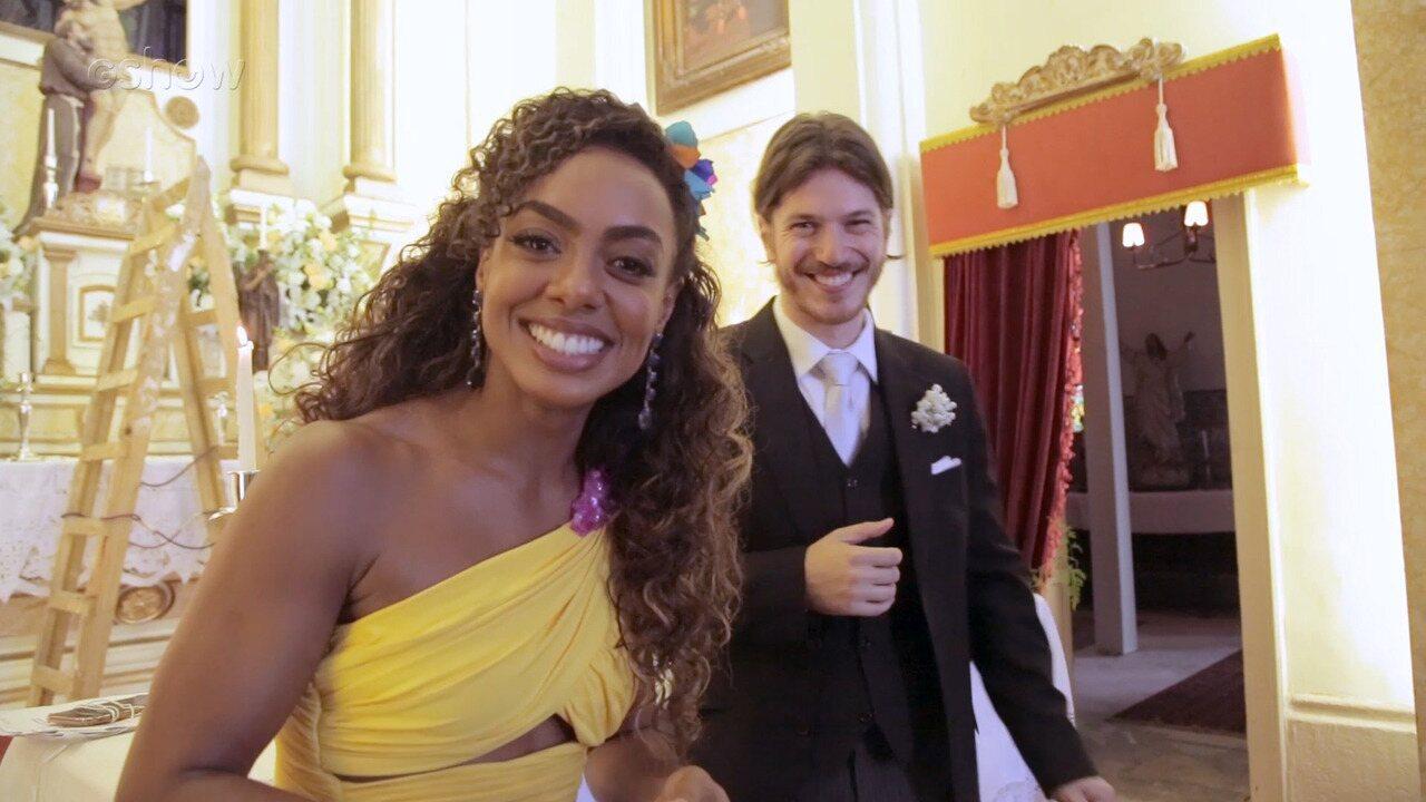 Dandara Mariana e Caio Paduan comentam o casamento de Dandara e Quinzinho