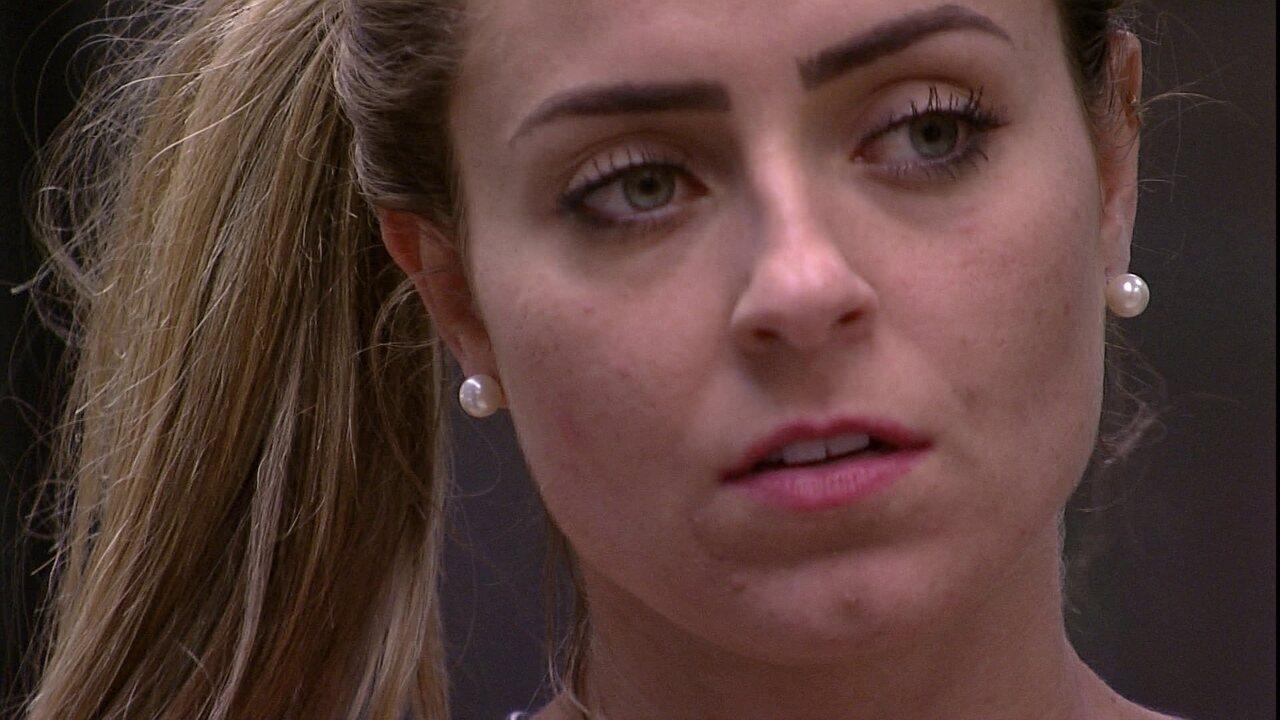 Paula sobre brother: 'Será que eu posso dormir lá no quarto ou Alan tem medo de mim?'