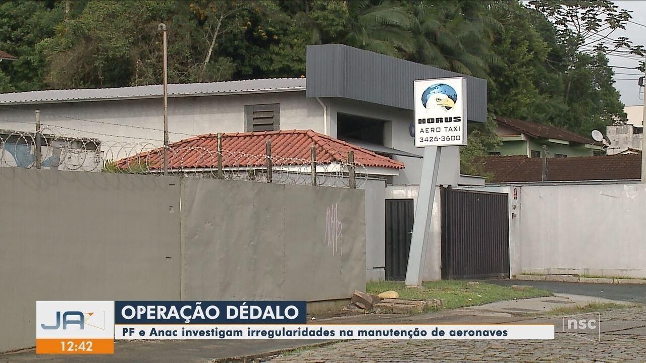 PF e Anac investigam irregularidades na manutenção de aeronaves em Joinville