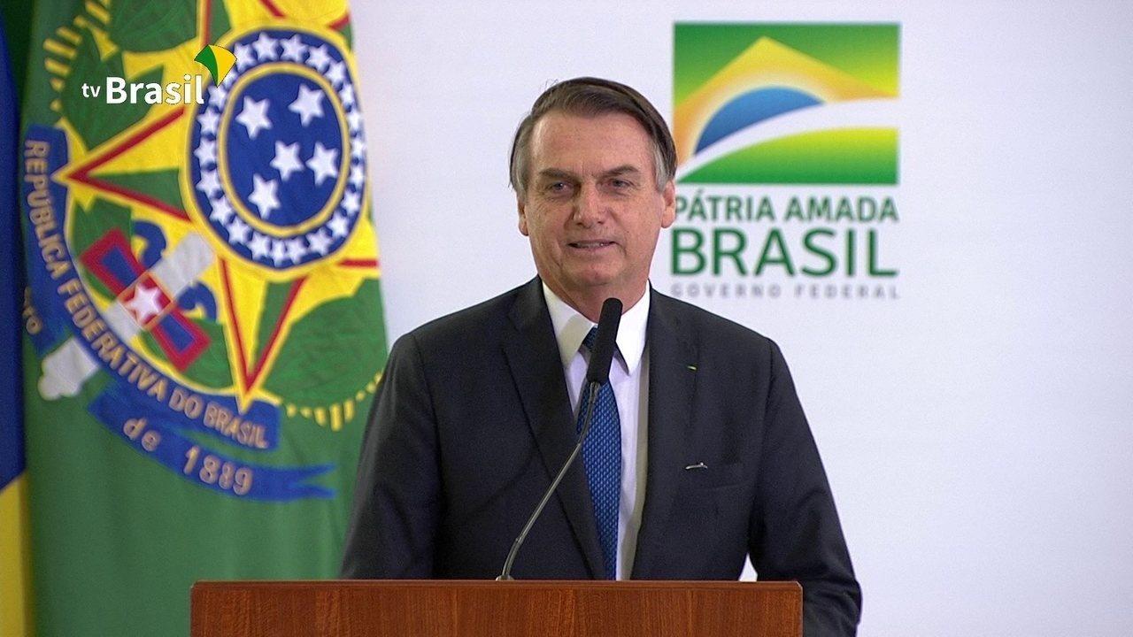 Assista à íntegra do discurso de Bolsonaro no evento dos 100 dias de governo