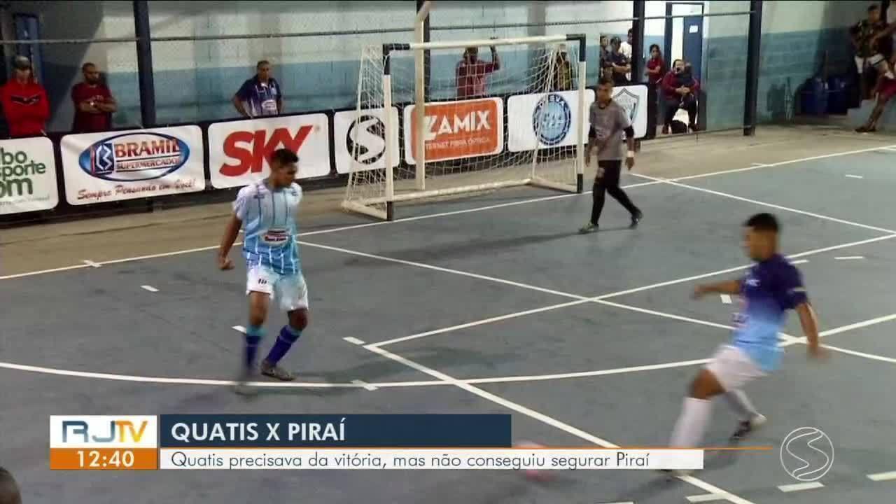 Copa Rio Sul de Futsal: Piraí vence Quatis por 11 a 3