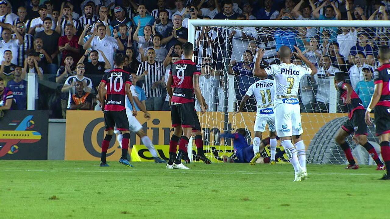 Melhores momentos: Santos 3 x 0 Atlético-GO pela terceira fase da Copa do Brasil