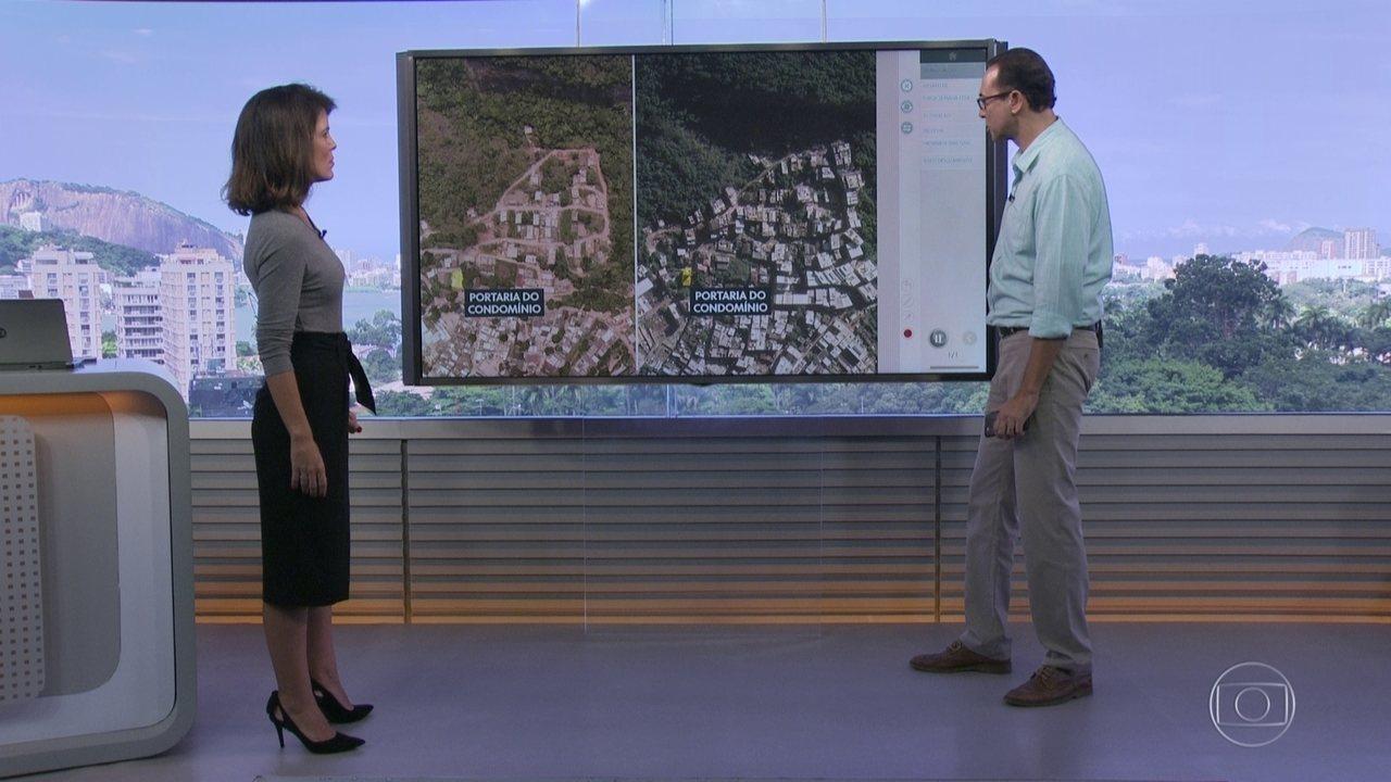 Fotos de satélite mostram expansão do local onde caíram dois prédios na Muzema